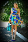 Navy-diy-dress-teal-centro-bag-navy-stradivarius-heels