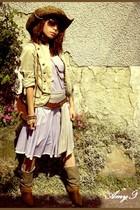 vintage belt - asos boots - Esprit blazer - Ray Ban glasses - dress