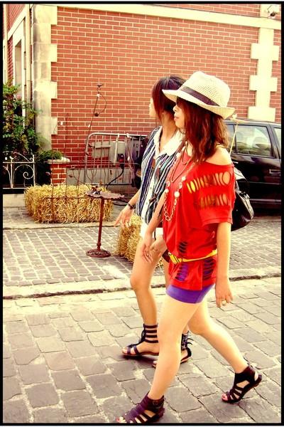 H&M top - H&M dress - H&M shoes - Esprit - vintage belt