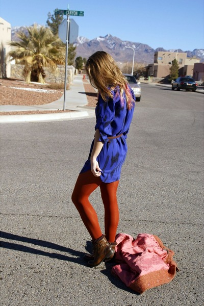carrot orange Target tights - dark brown gianni bini boots