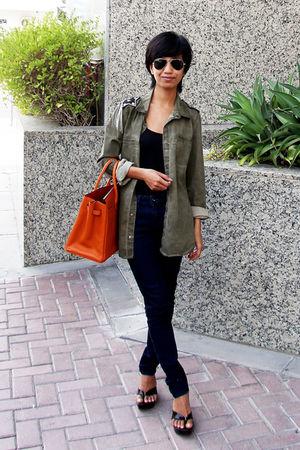 Zara - black Mango - Topshop - f21 accessories - black Aldo - black Ray Ban