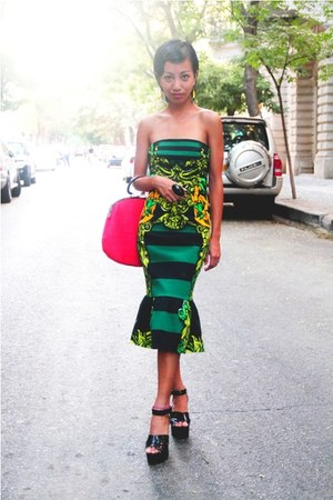 green monkeybanana Prada dress - black wedges Sonia Rykiel for H&M shoes
