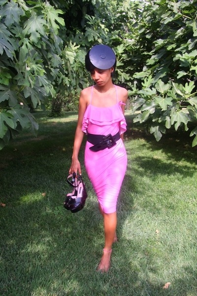 black Sonia Rykiel - black Topshop - pink Gift from Diddy dress - black emporio