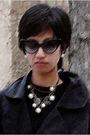 Black-stella-mccartney-white-accessorize-earrings-white-accessorize-necklace