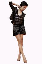 black emporio armani jacket - black asoscom - black Mango - dubai - gold Accesso