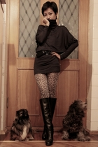 leopard Accessorize leggings - black Marc Jacobs boots