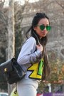 Chartreuse-local-store-earrings-black-caviar-backpack-chanel-bag
