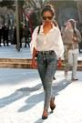 Black-zara-shoes-blue-vintage-jeans-white-shirt