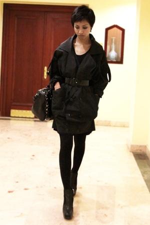 black Stella McCartney - black Miu Miu belt - black Mango purse - black asoscom