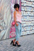 Prada - pink JLo by Jennifer Lopez - vintage - pink Miss Sixty - blue H&M - blac