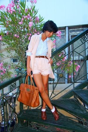 US Polo Assn shirt - brown H&amp;M shoes - brown Zara belt - pink Zara