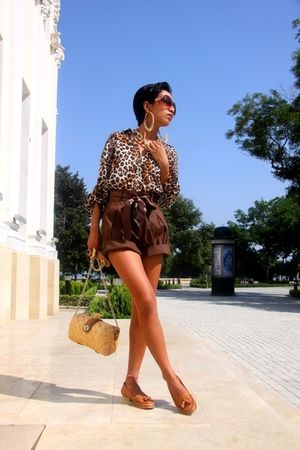 Mango sunglasses - brown donna karan - brown Zara - gold H&amp;M