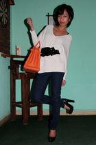 white H&M - black emporio armani belt - silver pink - silver Accessorize accesso