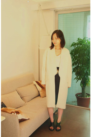 Zara coat - Zara shirt - Zara skirt - Alexander Wang heels