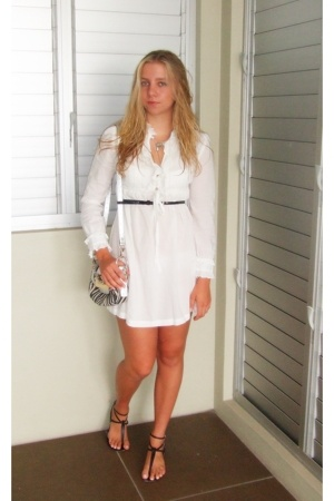 MinkPink dress - Guess belt - Robert Robert shoes - necklace - Guess purse