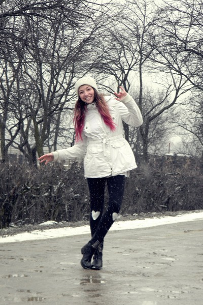 BSK jacket - boots - Takko hat - homemade leggings