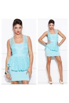 light blue bandage dress Couture dress