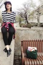 Aritzia hat - Zara shirt - Aritzia shirt - accessories