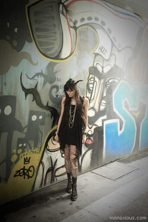 Jeffrey Campbell boots - Topshop dress - H&M necklace - DIY accessories - Etsy s