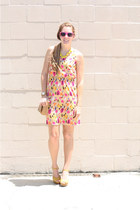 Anchors and Acorns necklace - LC Lauren Conrad shoes - Dillards dress