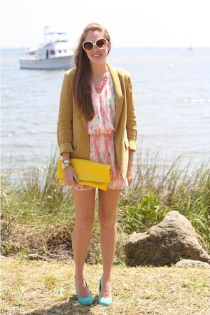 yellow DIY bag - aquamarine Urban Outfitters shoes