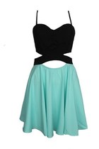 Its All About You Cutout Dress- Aquamarine
