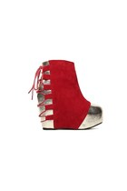 Electric Suede Wedge - Red
