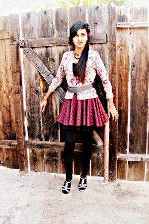 gray Forever 21 belt - purple Forever 21 skirt - Forever 21 accessories