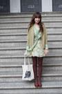 Vintage-ferragamo-shoes-romwecom-dress-thrifted-coat-libris-lunaria-bag-