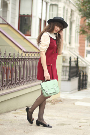 vintage dress - vintage Ferragamo shoes - goldenponies bag