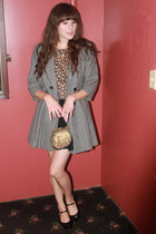 vintage coat - vintage shoes - vintage purse - vintage top - Dema skirt