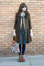 Chie-mihara-boots-vintage-dress-vintage-coat-thrifted-bag-vintage-cardig