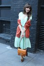 Vintage-dress-thrifted-coat-vintage-purse-vintage-loafers-thrifted-cardi