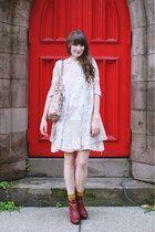 Topshop boots - vintage dress - vintage bag