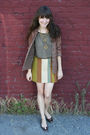 Vintage-cardigan-vintage-blouse-vintage-skirt-thrifted-necklace-hand-me-