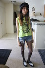 Black-creeper-tuk-shoes-black-biker-ish-obey-hat-black-heart-print-tights