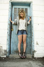 Blue-talula-shirt-blue-diy-thirfted-cutoffs-shorts-talula-blazer-american-