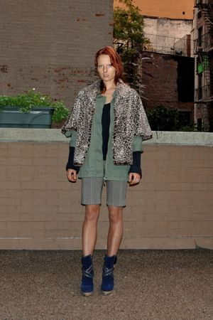 gray calvin klein coat - green Roxy jacket - blue les copains sweater - blue Le