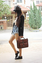 Zara bag - asos shoes - asos hat - asos blazer - Stylenanda shorts - asos blouse