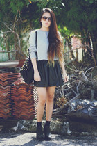 asos bag - Topshop boots - Zara sweater - Zara skirt