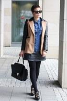 ohmyfrock jacket - bag - jeans shirt blouse - vintage skirt - Aldo wedges