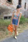 Blue-h-m-shorts-yellow-primark-shoes-orange-lucia-tommasi-accessories-h-m-