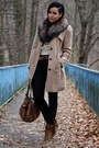 Brown-deichmann-boots-light-brown-trenchcoat-primark-coat-black-vila-jeans