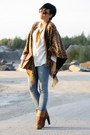 Burnt-orange-h-m-boots-blue-h-m-jeans-tawny-bag-ivory-h-m-blouse
