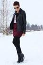 Black-leather-urbancode-jacket-light-pink-lola-vs-harper-shirt
