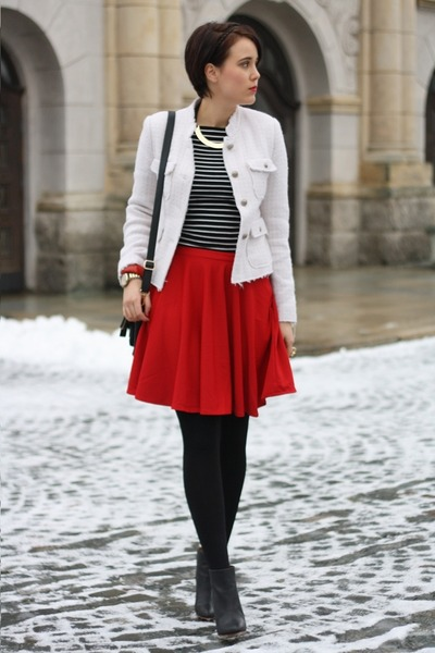 chicnova skirt - wedges MMM for H&amp;M shoes - yest blazer - Primark shirt