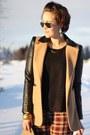 Plaid-vintage-pants-leather-sleeves-ohmyfrock-jacket-primark-shirt