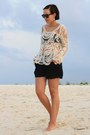 Eggshell-crochet-chicwish-shirt-black-akira-shorts