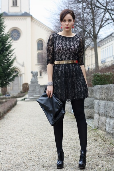 lace AX Paris dress - Buffalo boots