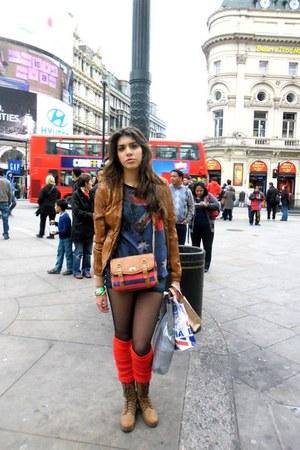 H&M socks - H&M tights - Steve Madden purse - Zara blouse